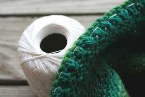 "Use cotton thread to ""fix"" the edge"